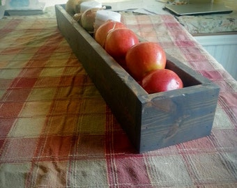 Wooden Planter Box Centerpiece