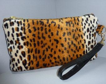 """Leopard Wristlet 6"""" x 10 1/2"""""""