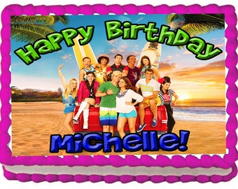 Teen Beach Movie 2 Quarter Sheet Edible Photo Birthday Cake Topper. ~ Personalized!