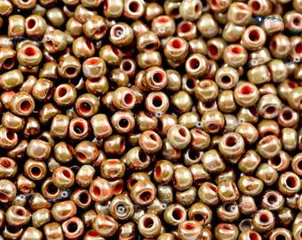 TOHO 6/0 Round Beads - HYBRID Pepper Red Picasso [TR-06-Y304]