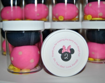 Minnie Mouse Play Dough Party Favors (8)