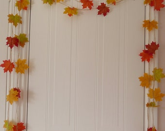 Gift, leaf garland home decor, room decor, fall and autumn