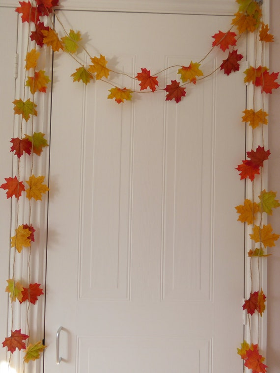 Gift Leaf Garland Home Decor Room Decor Fall And Autumn