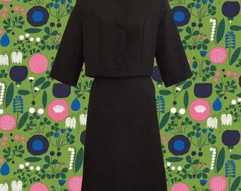 Vintage 1960's Skirt Suit • Vanette Creations by Ben Goodman • Pencil Skirt • 3/4 Sleeve