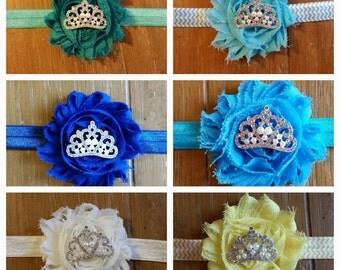 Girl Headbands// Shabby Chic Flower // Tiara