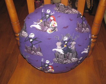 A Nightmare Before Christmas Circle Pillow
