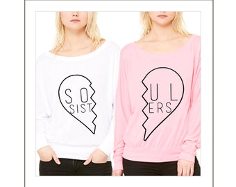 BEST FRIENDS Shirts - Soul Sisters - Set of 2 shirts