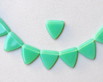 17mm Czech Glass Triangle Beads - Various Colors Available - Qty 10