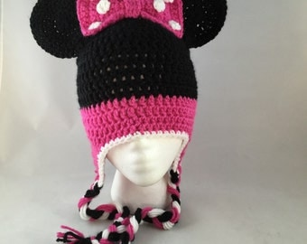 Minnie Mouse inspired hat (with/with out polkadots)