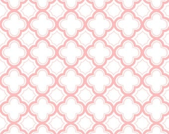 Sorbet Carnation Pink Geo Fabric From Quilting Treasures