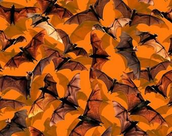 Halloween Bats Fabric From David Textiles