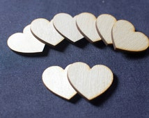 100 Laser Cut Birch Wooden Hearts 1.5 Inch Great for Wedding Guest Books.