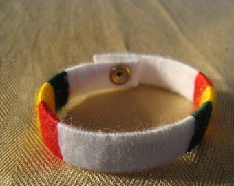 RASTA Fabric WRAPPED BRACELET RLW188