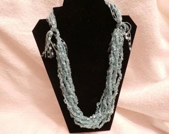 Hand Crocheted Trellis Necklace #20
