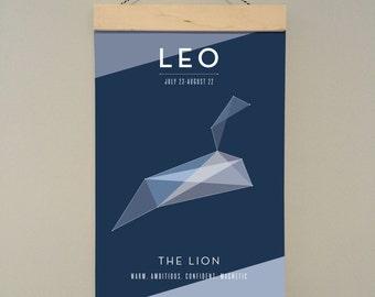 Leo zodiac poster