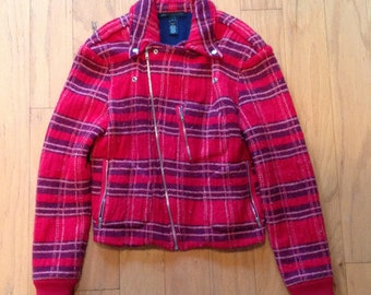 Brand New Never Worn Marc Jacobs Flannel Motorcycle Jacket