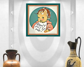 Vintage Baby Art with quote digital download, printable 2 size