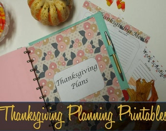 Thanksgiving Planner, Thanksgiving Planning Printables, Holiday Meal Planning, Entertaining, Menu Planner