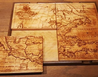 Artwork Coaster - 1750 Map of North America