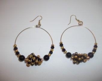 Black Golden Treasure Earrings