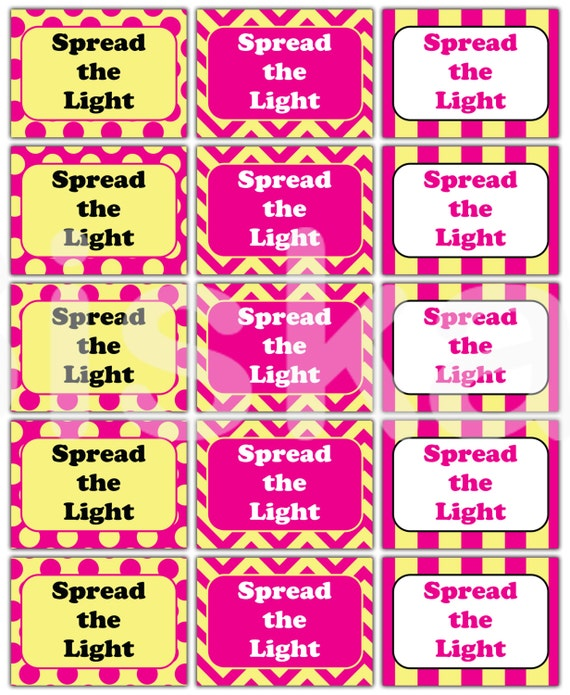 MATCH Box LABELS Printable Yellow & Pink Party Decorations