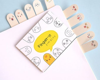 Finger-it Sticky Notes / Cute Kawaii Finger Post-It Notes / School Supplies / Stationery / Stationary / Bookmark / MemoPad / School Supplies