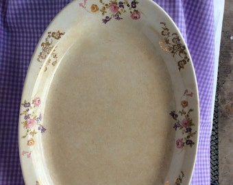 Sweet Homer Laughlin Floral Platter