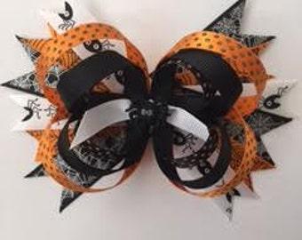 Halloween Spider Hair Bow