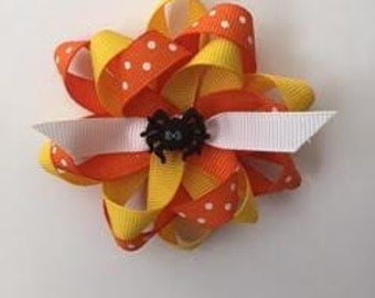Orange and Yellow Spider Bow