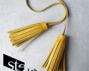Keychain leather tassels-different colors-Customizable