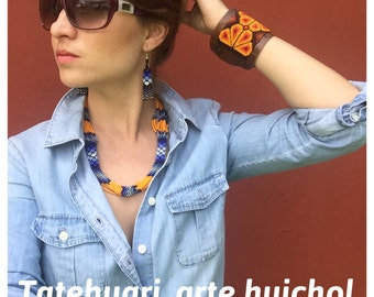 Necklace aresanal huichol art