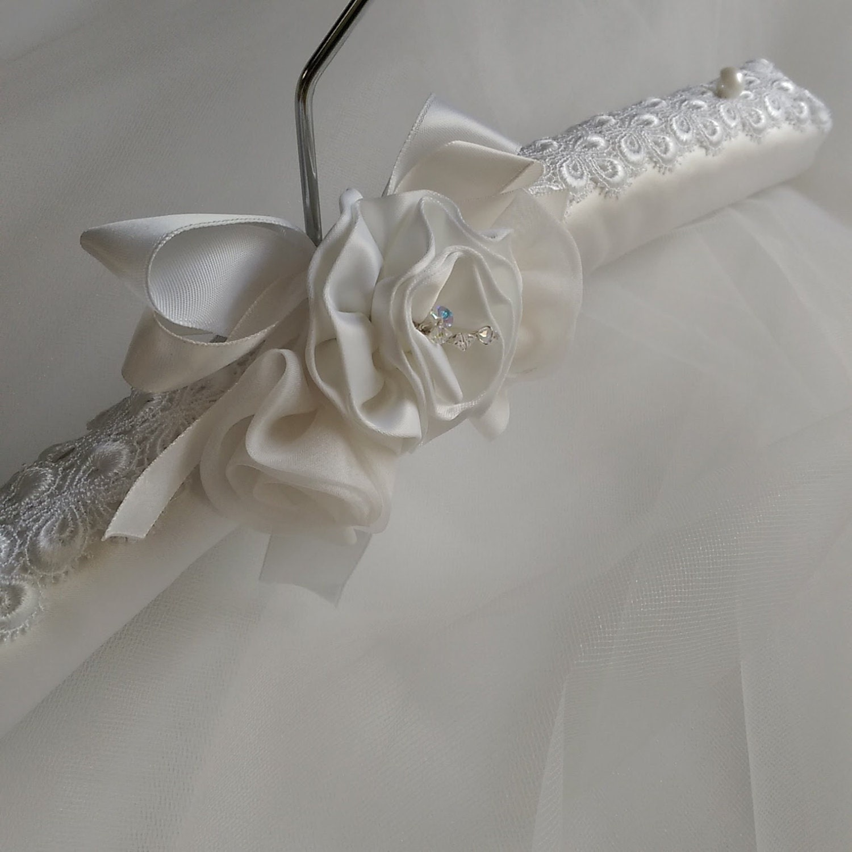 Lace Bridal Hanger Bridal Gown Hanger Padded Decorative