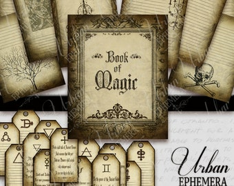 Printable Magic Journal and Spell Tags