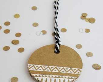 greeting tags 10 pack made of 220gsm kraft card comes with 1 meter of twine handmade and embossed