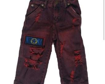 Nirvana distressed denim jeans