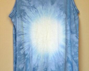 Tie Dye acid wash vest top sleeveless T shirt hipster festival grunge Retro punk OMBRE 80s 90s indie dip dye indie skate rave tank top