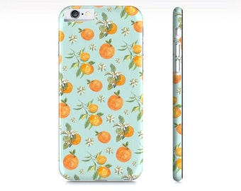 Oranges iPhone Case - Oranges Phone Case - Orange Citrus Fruit iPhone 6 Case - Orange and Blue Pastel Phone Case - The Mad Case