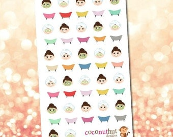 Beauty / Spa / Facial / Bubble Bath Planner Stickers