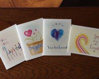 Set of 4 Love Cards