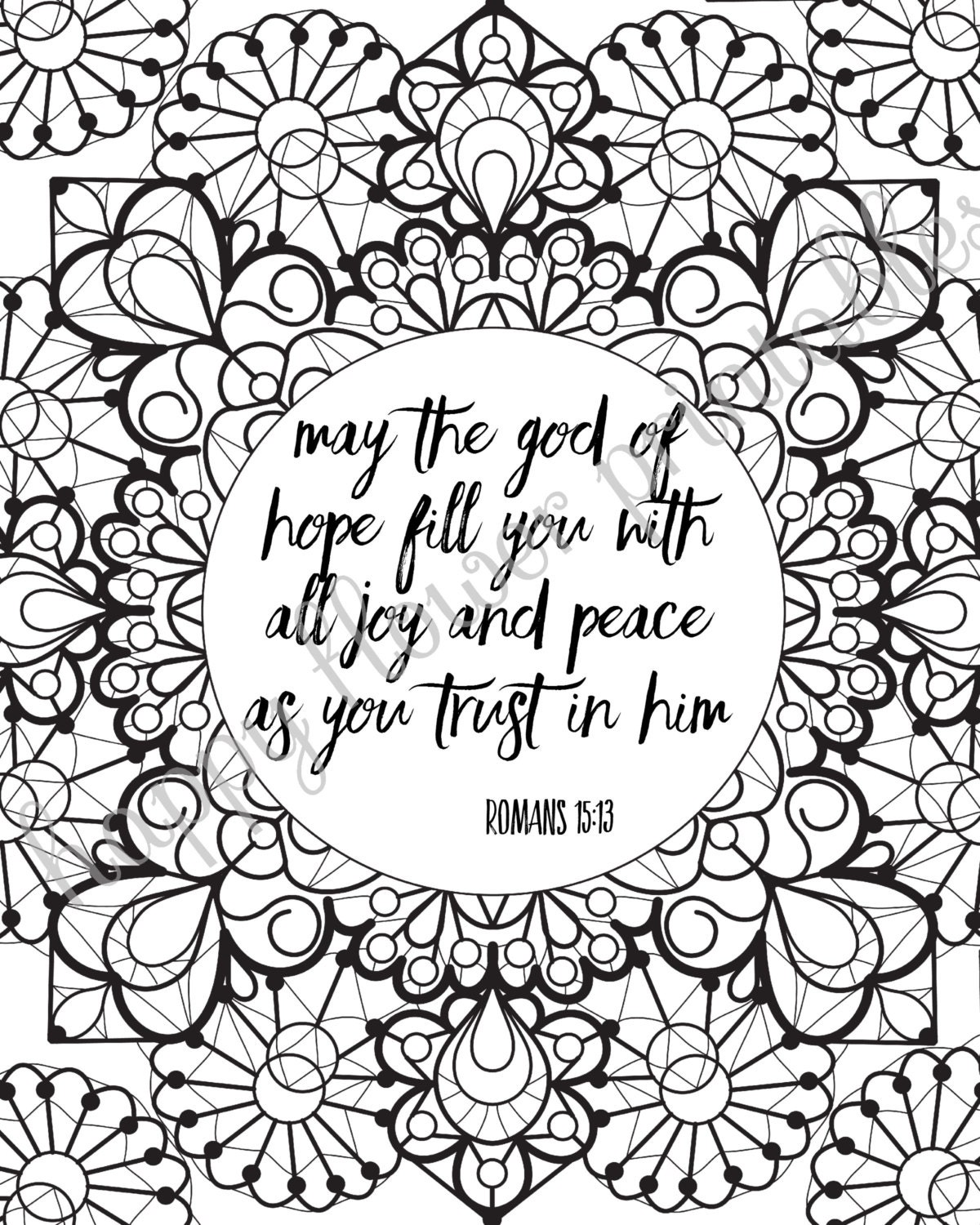 12 Bible Verse Coloring Pages Instant