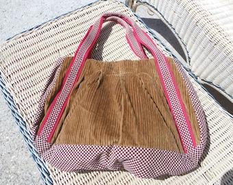 bag, fabric velvet, handcrafted
