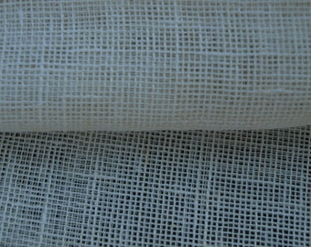 100% Natural Ivory Linen Fabric Gauze