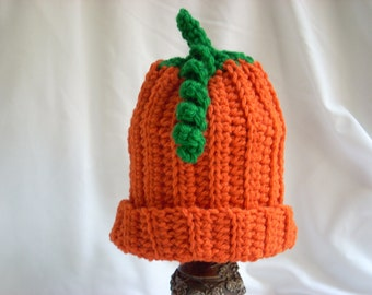 Baby Pumpkin Hat, Halloween Costume Party Hat, Crochet Pumpkin Hat, Baby Winter Hat, Fall Baby Hat, Baby Photography, Food Crochet Hat