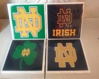 Notre Dame coaster set