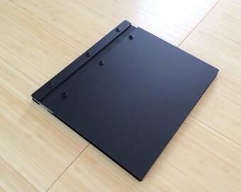 11X8.5 Matte Black Portfolio Presentation Elegant Modern Portfolio Folder  Student Photographer Folio Screw Post