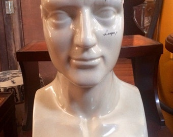 L.N. Fowler Porcelain Phrenology Head 18""