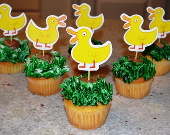 Peppa Pig Ducks Cupcake Toppers