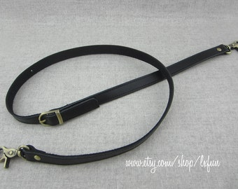 Black Bag Strap, Long Leather Purse Straps, Webbing Strap