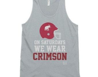 On Saturdays We Wear Crimson Tank