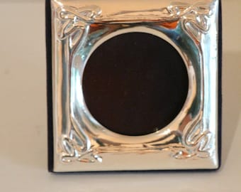 A907: vintage sterling SILVER FRAME - handmade 1980s;  gift for Mother's Day, Christmas, Birthdays, anniversary